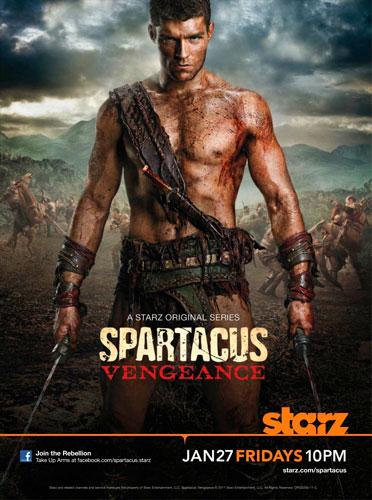 Spartacus Vengeance Starz poster 2012