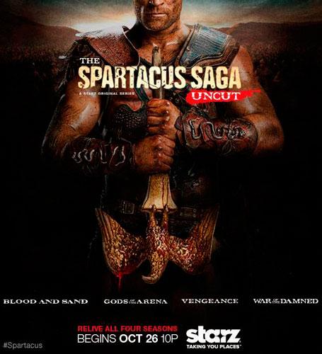THE SPARTACUS SAGA UNCUT STARZ 2013 poster
