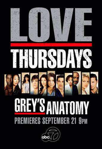 Greys Anatomy season 3 ABC poster 2006