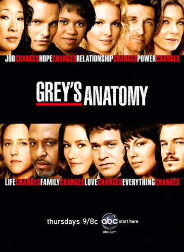 Greys Anatomy season 4 ABC poster 2007
