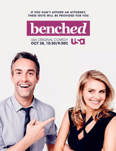 Benched season 1 2014 poster USA Network